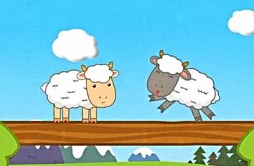 两只羊过桥图片