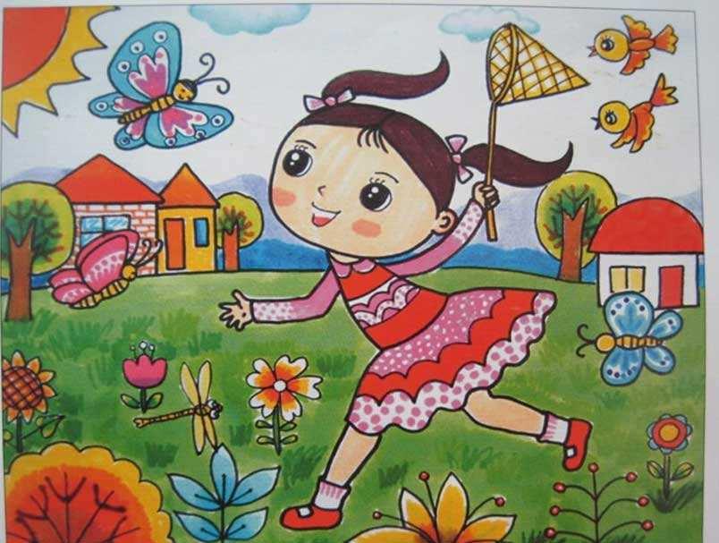 儿童 卡通 笑希希的儿童诗 初春  初春    春天的毛毛雨,    洗得小树