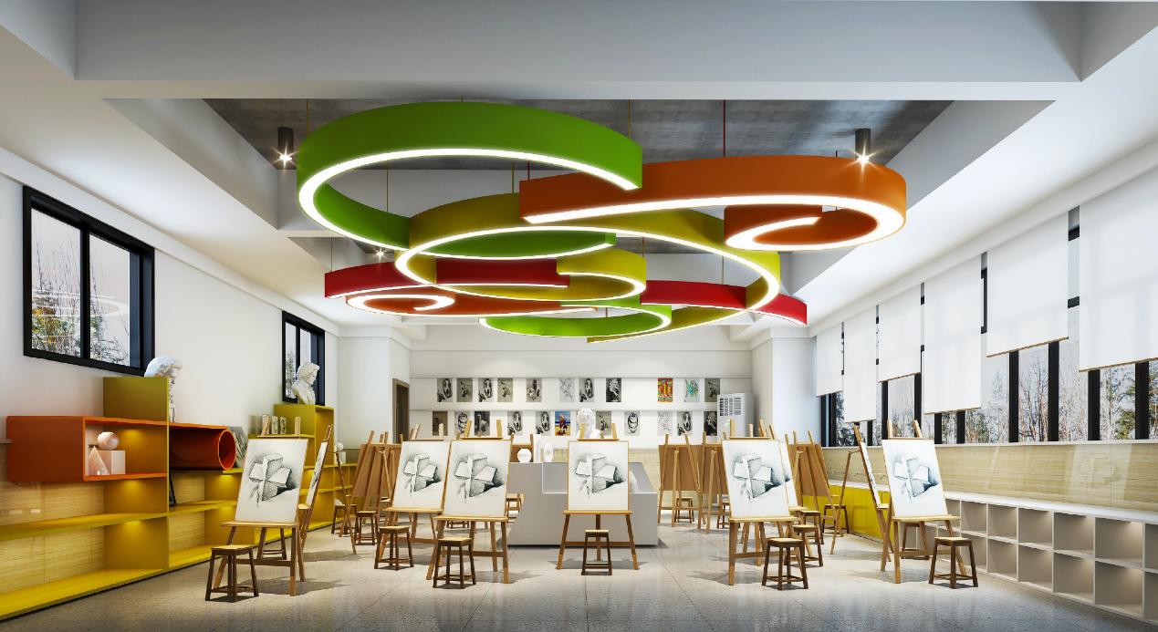 *北新巴蜀中学音乐教室效果图   在国际艺术高中部分,以全球专业排名