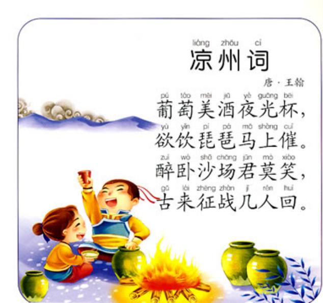 导图巧记古诗——凉州词(王翰)