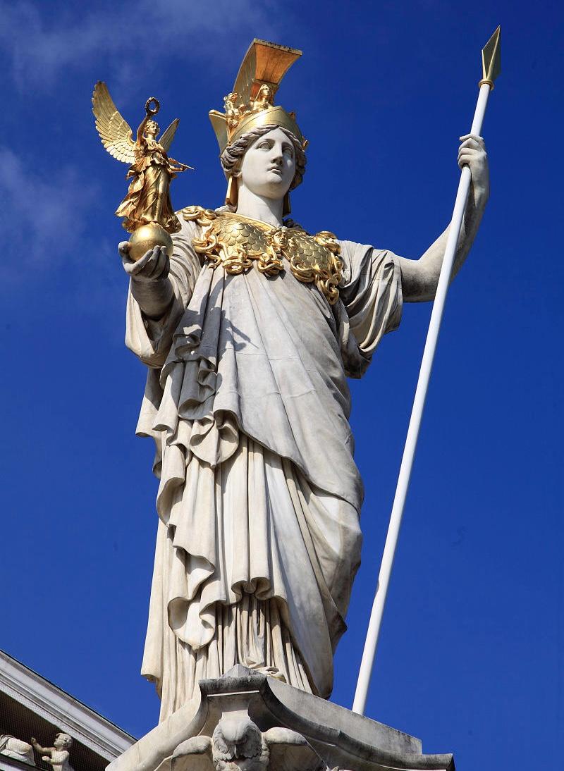 nike(耐克)与胜利女神之间的关系; 2. 雅典娜为何身披金甲?