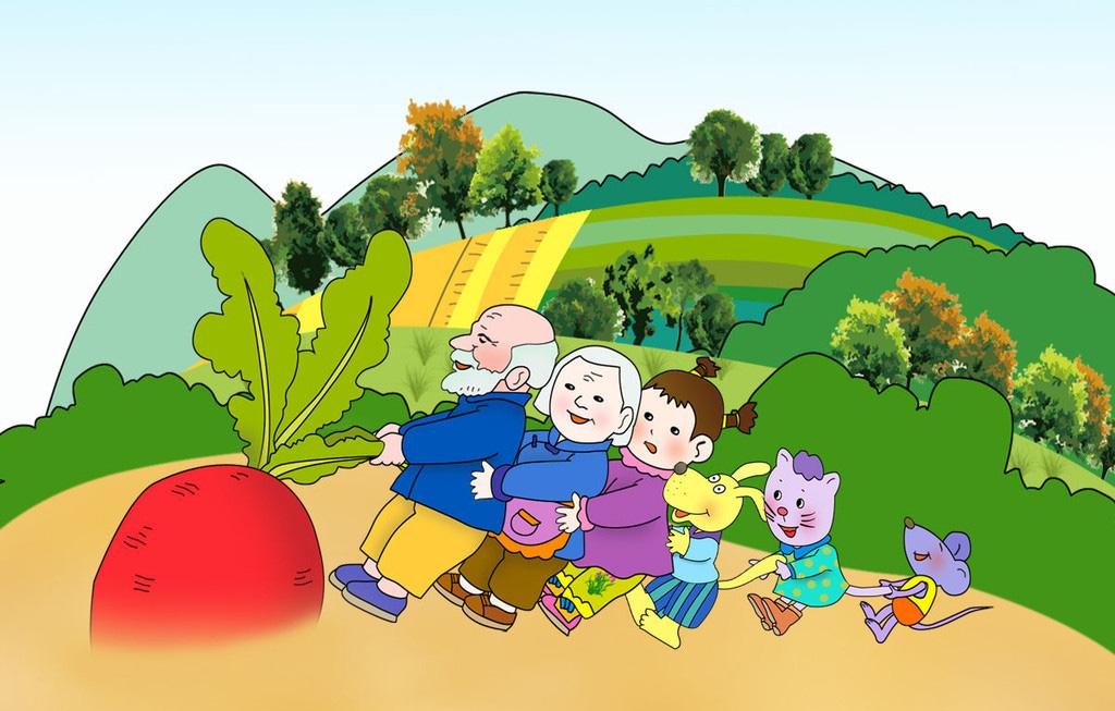 姥姥讲故事(2-3岁)5-1:拔萝卜(俄罗斯 阿.托尔斯泰)