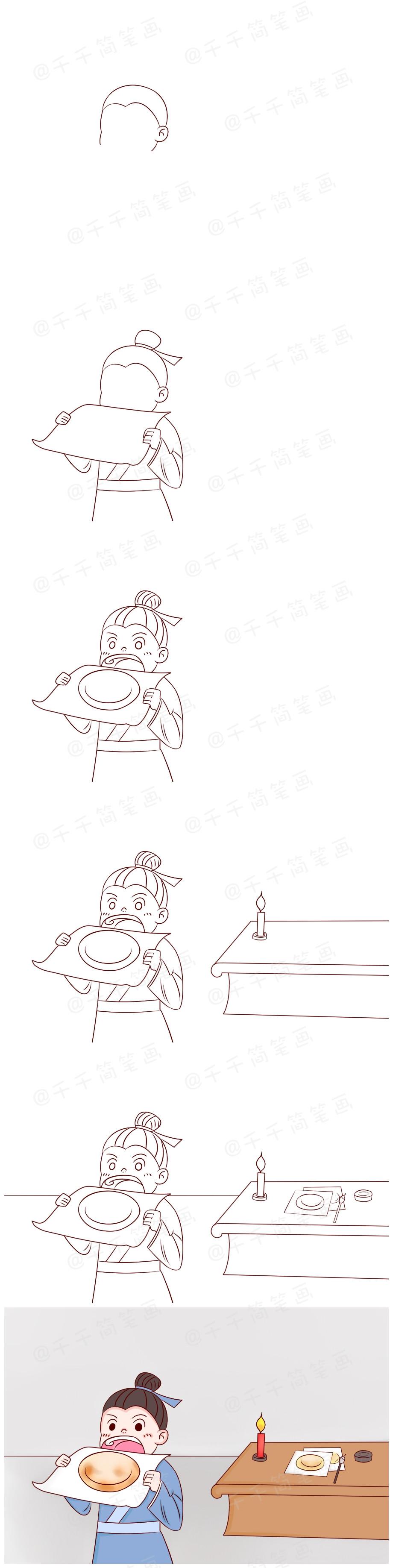 【5岁+成语故事】画饼充饥【千千简笔画国学 】