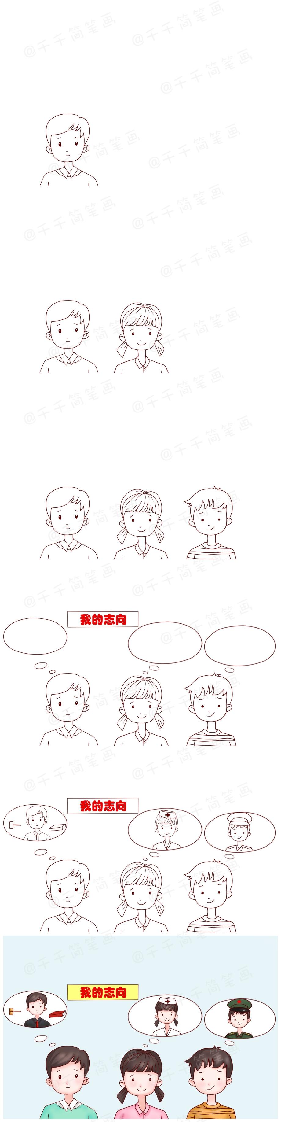 【5岁 成语故事】人各有志【千千简笔画国学 】