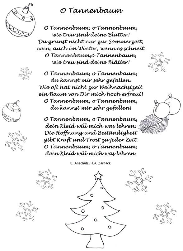Tannenbaum Lied.圣诞快乐 用户 德语坊对5 7 号外 唱了十年的校歌竟然是首