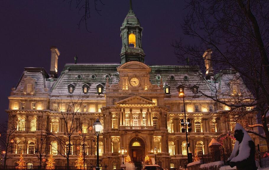 """传说中的""""加拿大蒙特利尔市的市政大厅"""""""